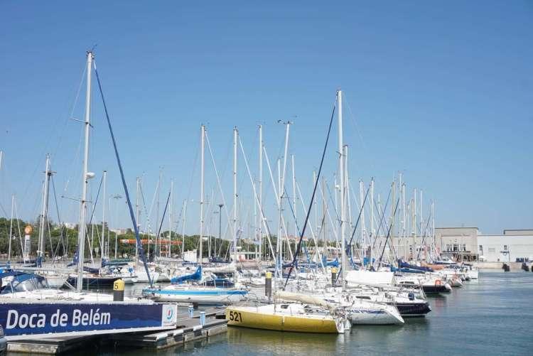 Boats in Belem harbor - 3 days in Lisbon