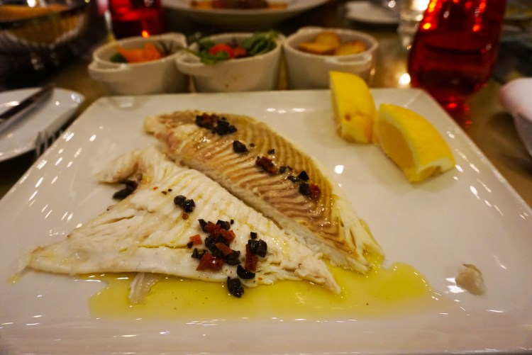 Delicious plate of sole - One week in Portugal