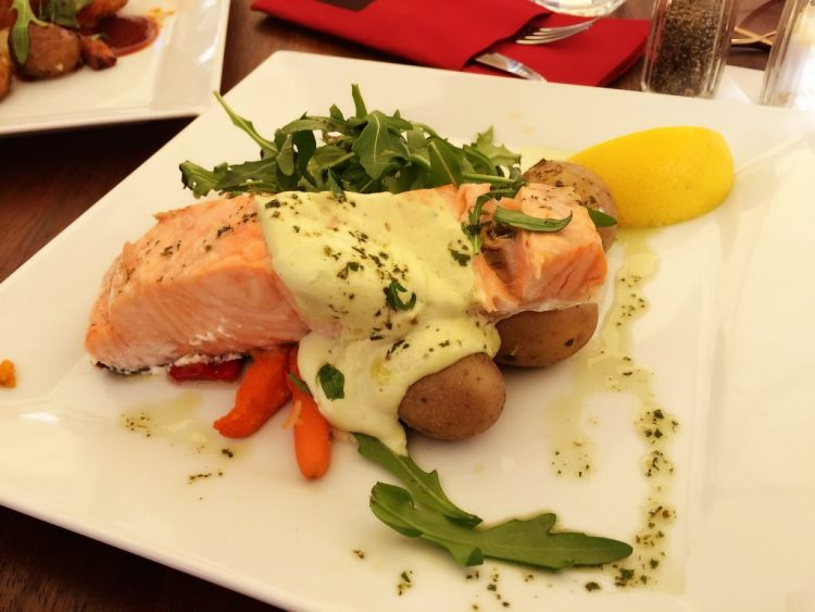 Salmon dish at Victor's - Things to do in Malmö day trip