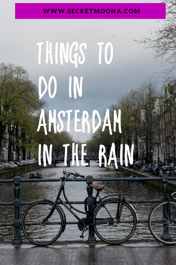 Amsterdam in the rain? Rain shouldn't stop you from enjoying your trip. Luckily big cities like Amsterdam have plenty of things to do on good or bad days. #amsterdam #rain #cityguide