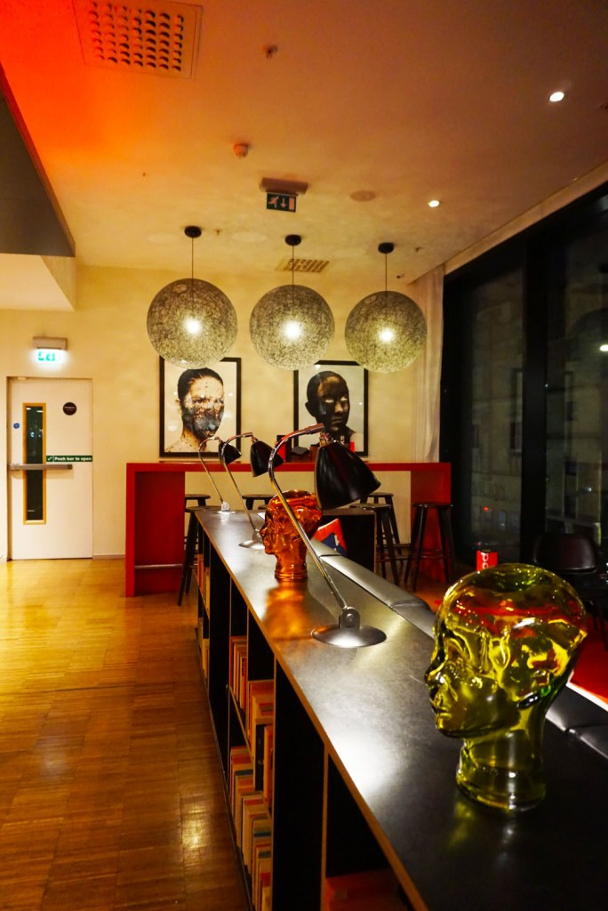 Bar lounge at CitizenM hotel Glasgow