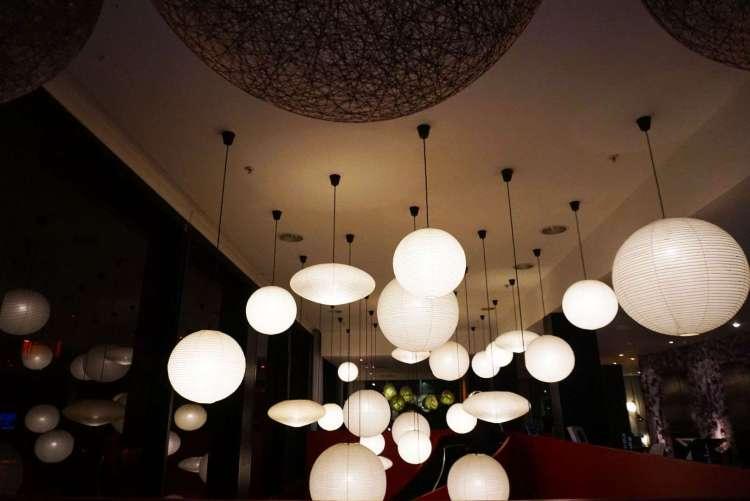 Lanterns lighting at CitizenM hotel Glasgow