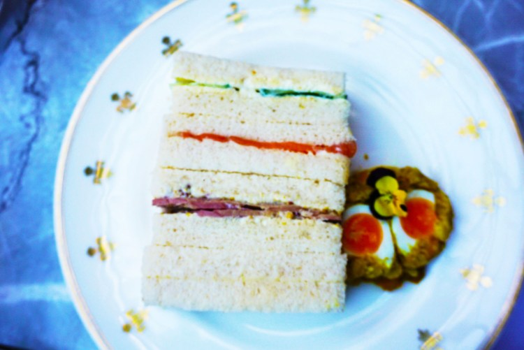 Luxury afternoon tea gluten free sandwiches
