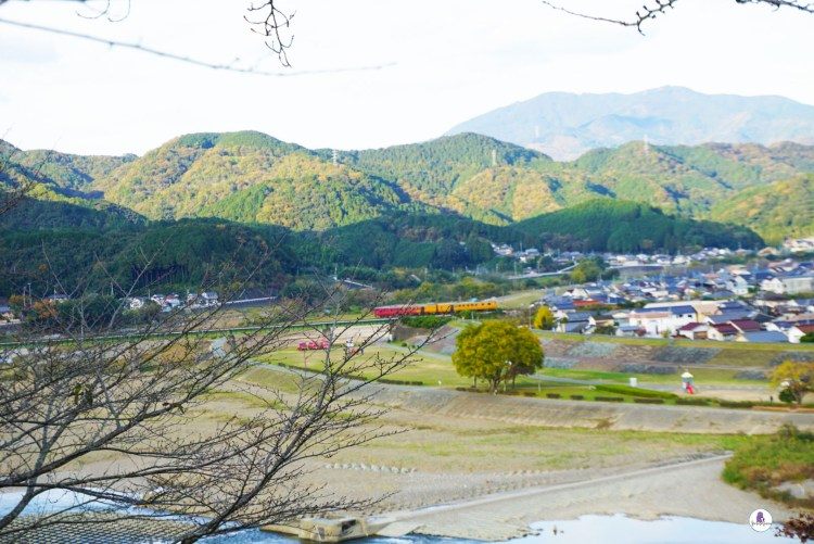 Train passing Japanese countryside - Take a trip down to Ozu City to discover another side of Japan. This small town located in Ehime Prefecture on Shikoku Island is a gem worth visiting.