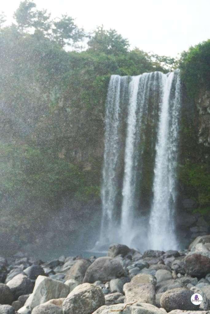 Jeju itinerary: check out Jeongbang Waterfall