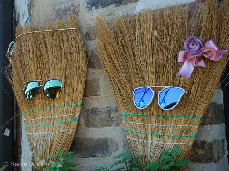 Cute decorated brooms, Seoul