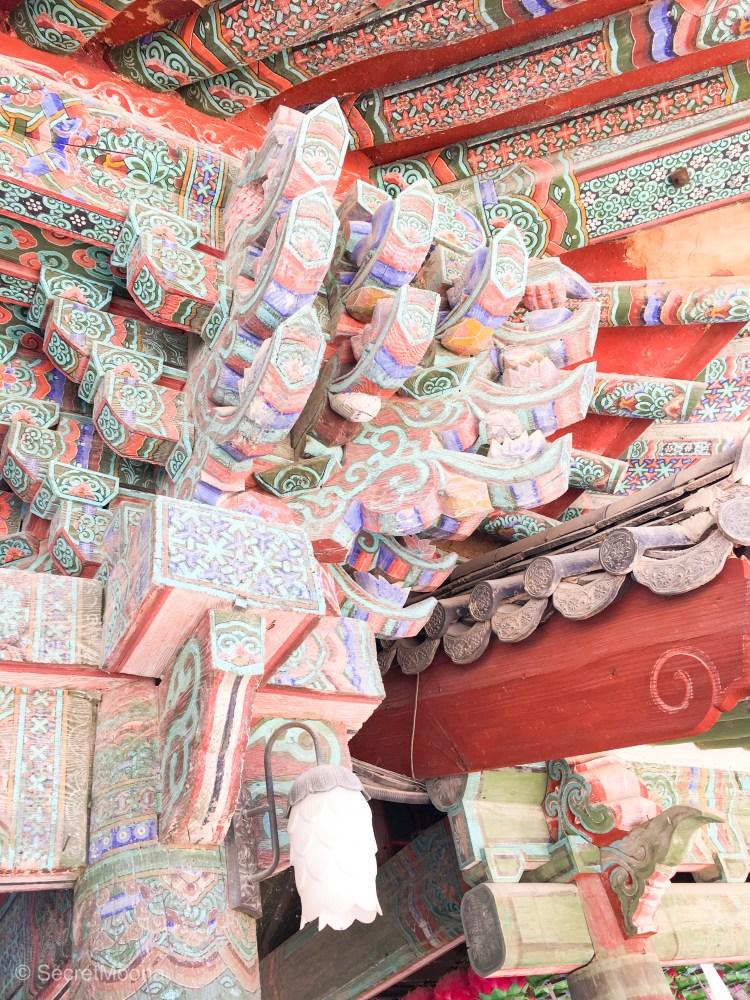 Detail in Bulguksa Temple structue, Gyeongju