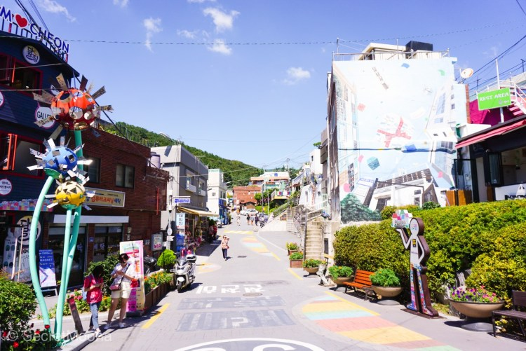 Welcome to Gamcheon Culture Village, entrance to village