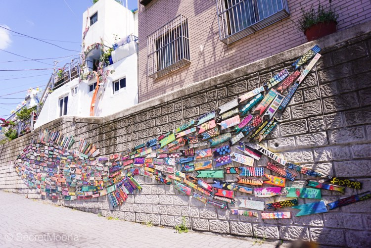 Fish Swimming Through the Alley by Gamcheon Village resident Jin Yeongseop