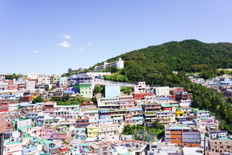 View of Gamcheon Culture Village from a viewpoint