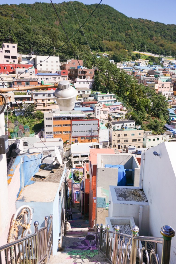 Top of the 148 steps of Stairs to See Stars, Gamcheon Village