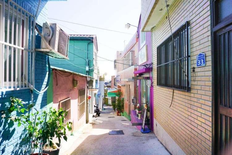 A street in Gamcheon Culture Village, Busan