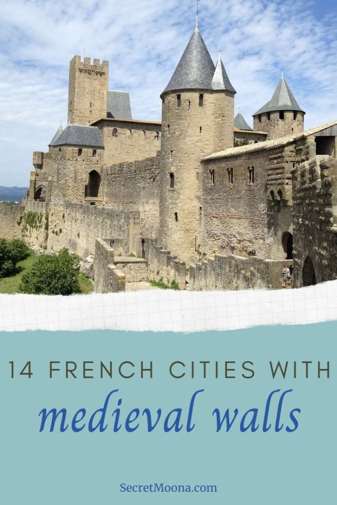 14 French Cities with medieval walls.