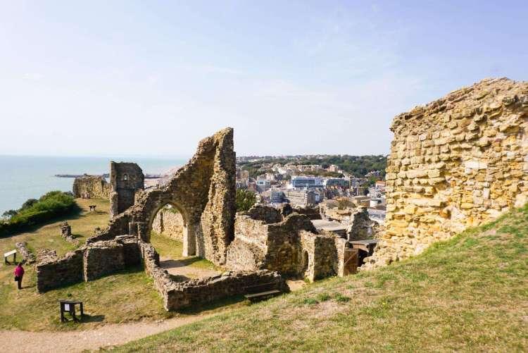 Ruins of Hastings Castle - Day trip to Hastings - SecretMoona