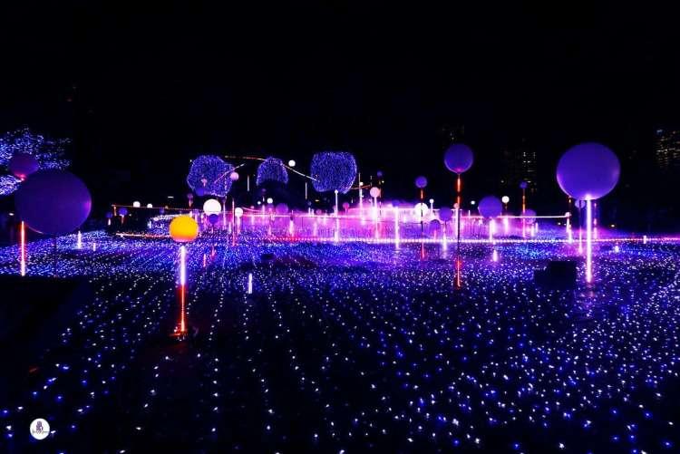 Tokyo Midtown Blue illumination
