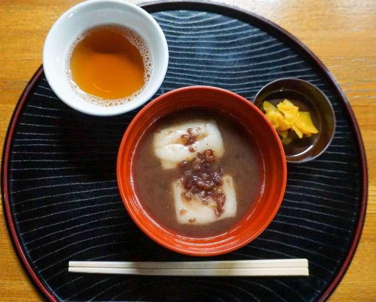 Shiratama zenzai, Japanese sweet