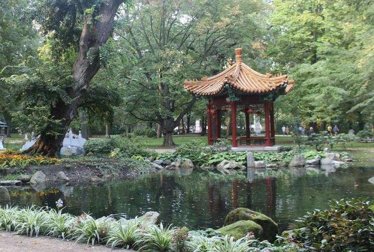 Pavilion in a Japanese garden, Łazienki Park - Warsaw, Poland