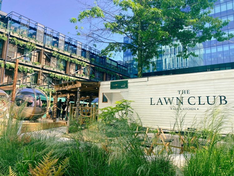 The Lawn Club in Spinningfields, Manchester