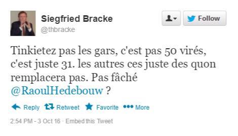 faux-tweet-belgique-politiquet BELGIQUE : Le parlement se sépare d'1/3 des députés ! Grève annoncée.
