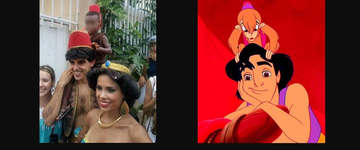 Abu le singe d'Aladdin remplacé par un enfant noir dans la grande parade à Disneyland Paris
