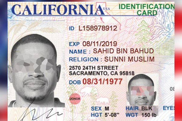 New US directive : the Administration will mention your religion on your driver's licence