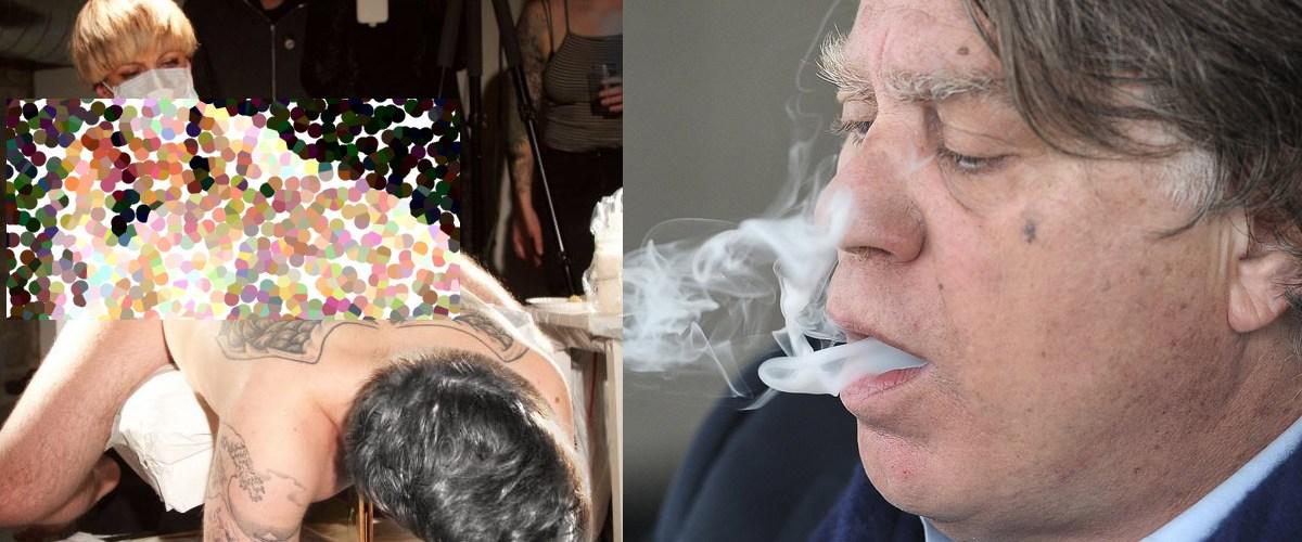 """Gilbert Collard sous l'effet du cannabis se fait tatouer """"Vive Marine"""" sur le rectum"""