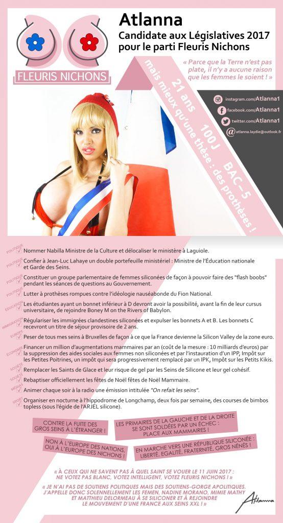 Atlanna-laydie-election-legislative-flyer-554x1024 Liberté, Egalité, Fraternité, Gros nénés ! - Atlanna Laydie candidate aux Législatives pour le parti Fleuris Nichons