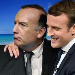 Emmanuel Macron en vacances avec le président du MEDEF Pierre Gattaz.