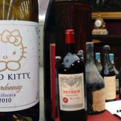 La bouteille de vin la plus chère du monde est un Chardonnay Hello Kitty californien
