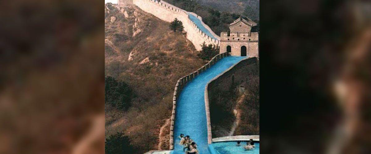 La grande muraille de Chine bientôt transformée en toboggan aquatique géant