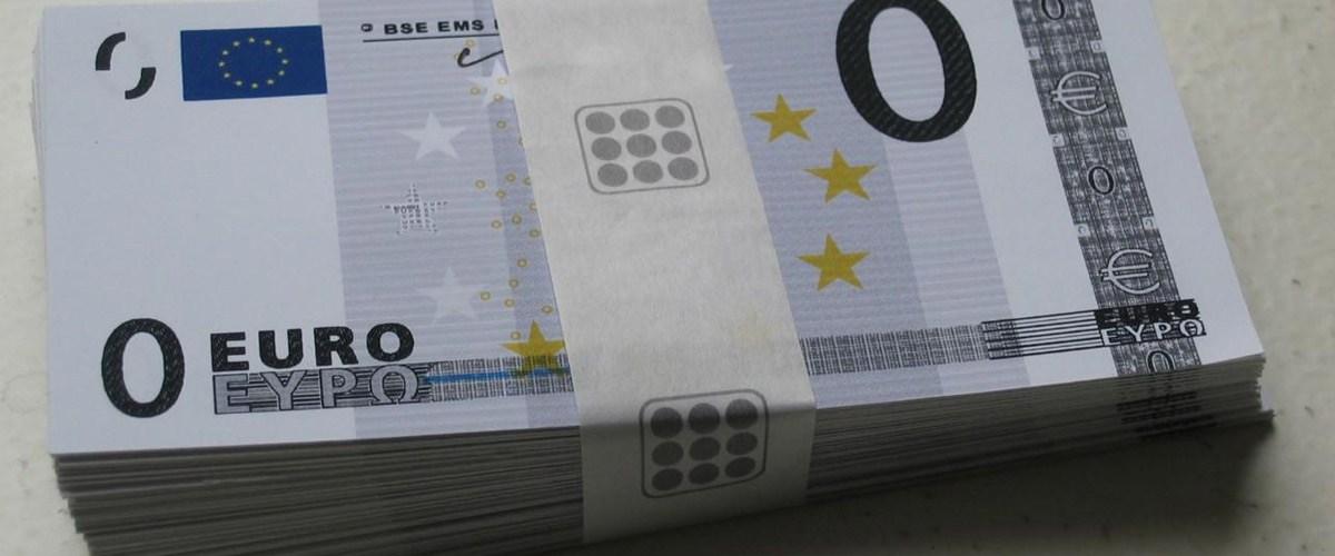 Un billet de zéro euro mis en circulation pour faire baisser le sentiment de précarité