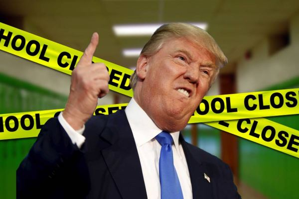 Trump veut fermer tous les établissements scolaires pour empêcher les massacres dans les écoles