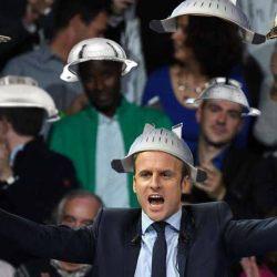 """Macron reçu chez les pastafaristes : """"il faut réparer le lien entre les Spaghetti et la Bolognaise »"""