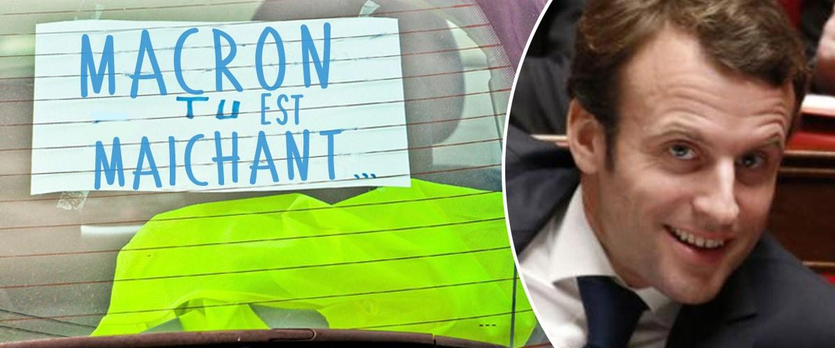 """Les gilets jaunes, """"ce sont des abrutis qui vont faire un bide"""" se moque Macron"""