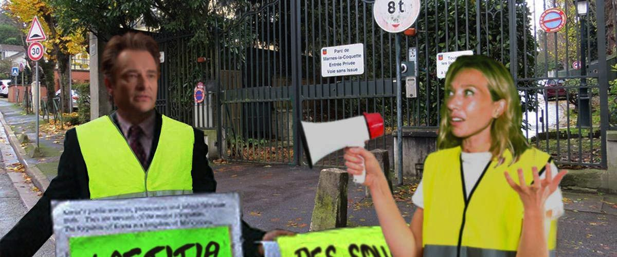 Gilets jaunes : David et Laura ont manifesté devant le domicile de Laeticia