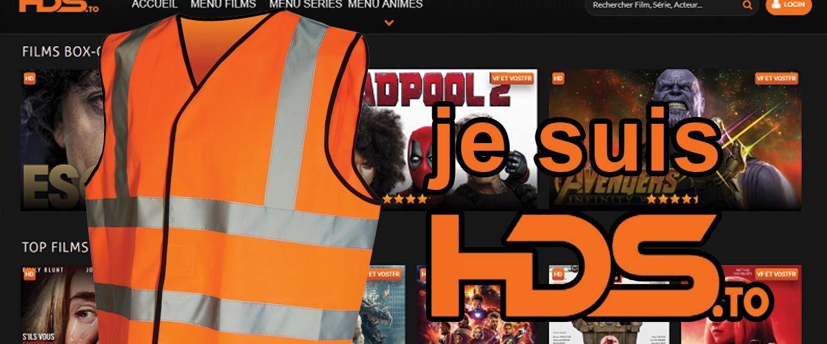 """Une mobilisation """"Gilet Orange"""" s'organise contre la fermeture du site de streaming HDS.to"""