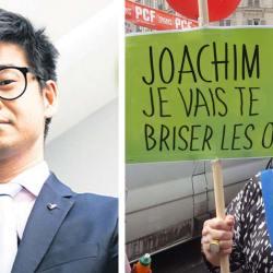 """Joachim Son-Forget défie Esther Benbassa sur un ring de boxe : """"pour enterrer la hache de guerre"""""""