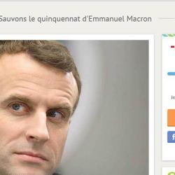 Une cagnotte de soutien à Emmanuel Macron atteint un montant ... négatif