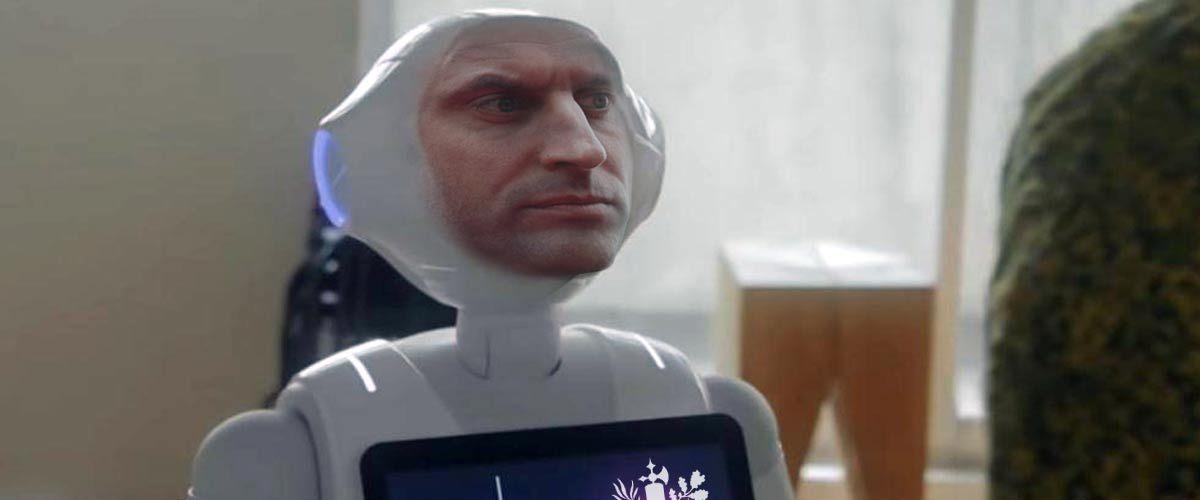 Un robot au visage de Macron bientôt obligatoire dans chaque foyer