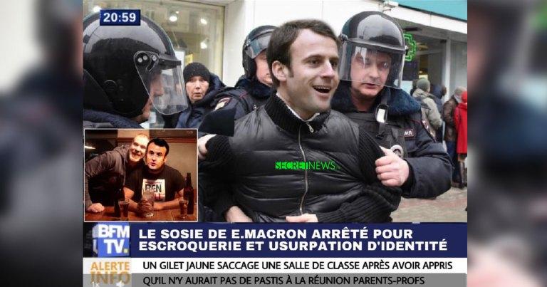 emmanuel-macron-sosie-police-arrestation SecretNews