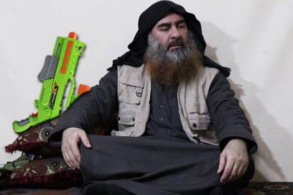 Al-Baghdadi apparaît dans une vidéo avec le pistolet a eau de Benalla