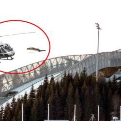 Un skieur percute un hélicoptère lors d'une compétition de saut à ski