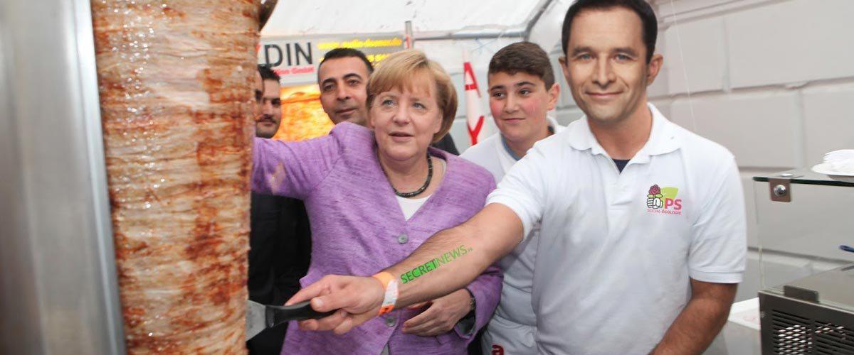 Benoit Hamon va ouvrir un restaurant kebab avec Angela Merkel