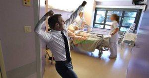 Macron danse à l'hôpital pour fêter la remontada de Vincent Lambert …