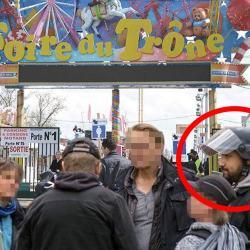 """Foire du Trône : Benalla porte son casque """"Au cas ou je dois aider la police comme m'y autorise l'article 73"""""""