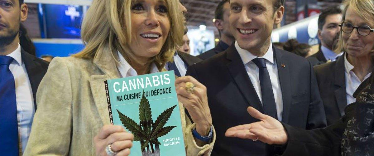 """""""Ma cuisine qui défonce"""" : les recettes au cannabis de Brigitte Macron"""