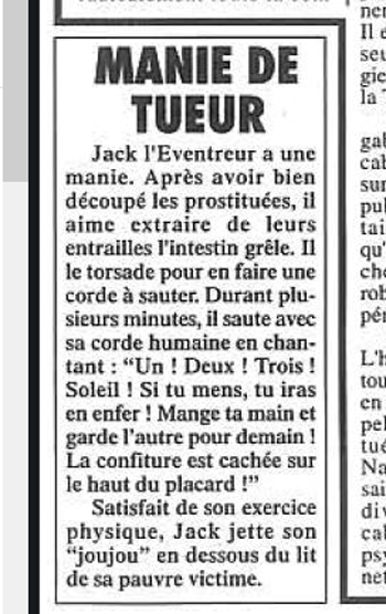 jack-eventreur Sigmund Freud a soigné Jack l'Éventreur