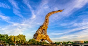 Canicule : la tour Eiffel fond