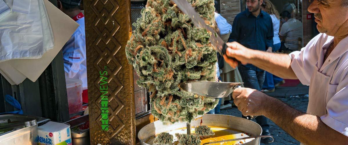 """Sandwichs au cannabis : ouverture du premier """"space-kebab"""" à Amsterdam"""