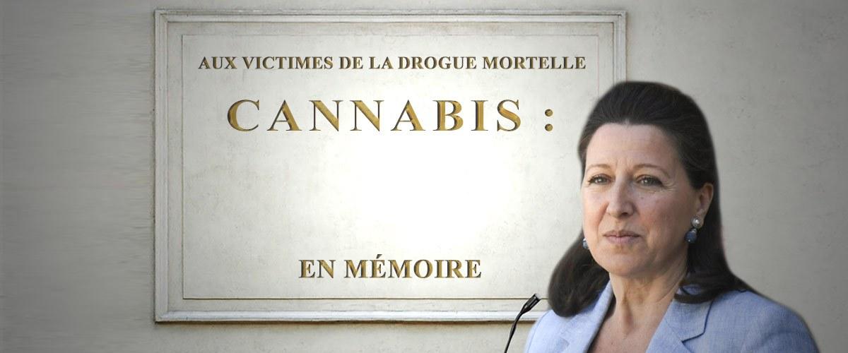 La ministre de la Santé dévoile une plaque pour les victimes du cannabis